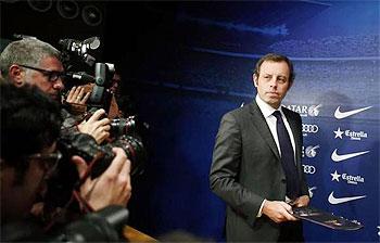 Sandro Rosell, Barca president