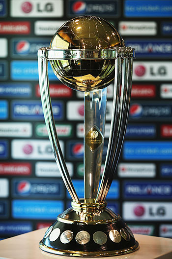 The Cricket World Cup trophy