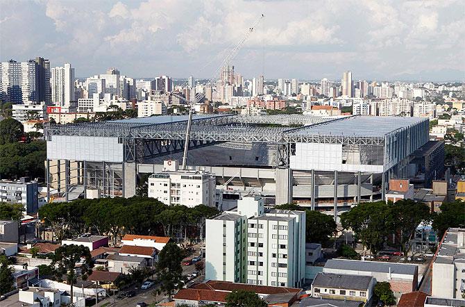 The Arena da Baixada soccer stadium