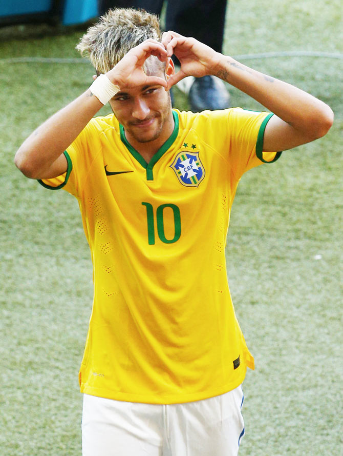 Neymar of Brazil