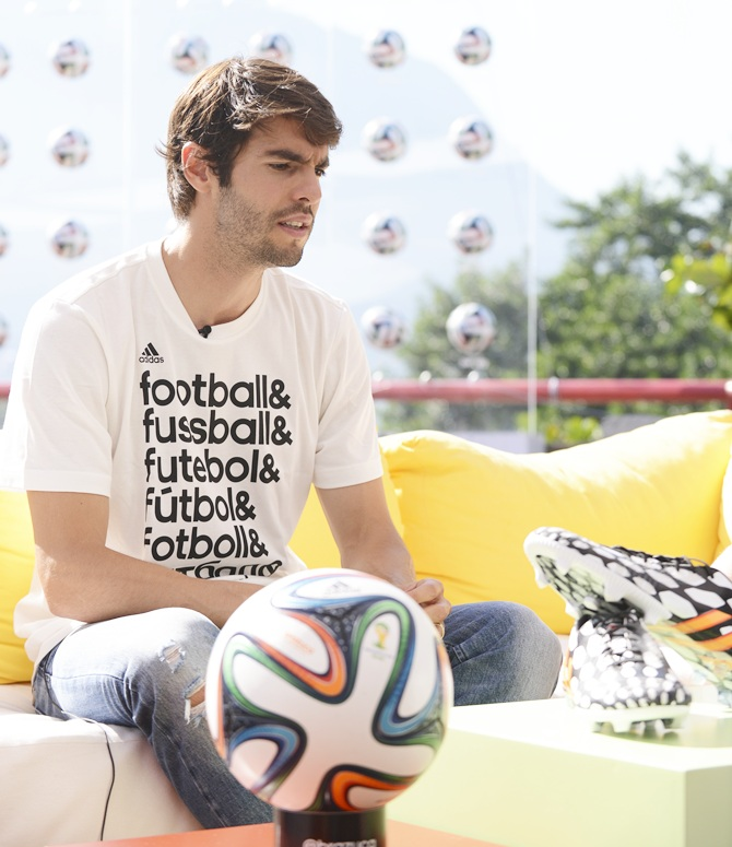 Kaka attends a press conference