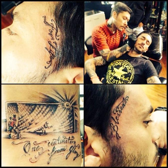 Mauricio Pinilla's tattoo