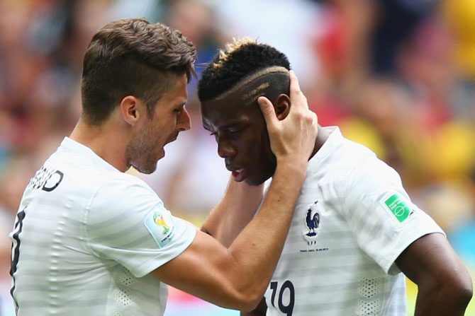 Olivier Giroud and Paul Pogba