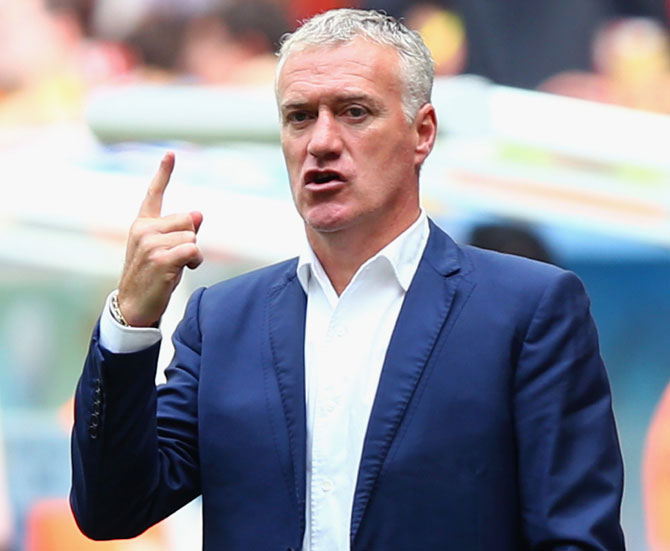 Head coach Didier Deschamps of France