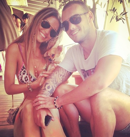 Yolanthe and Wesley Sneijder