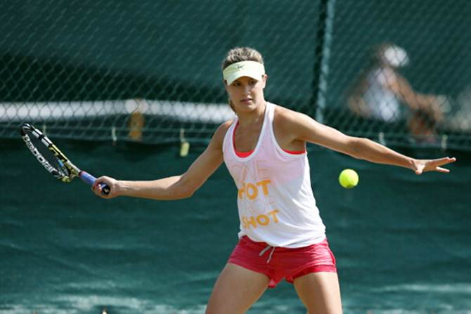 Eugenie Bouchard of Canada during a practice
