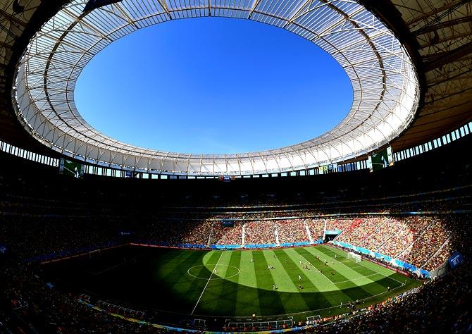A general view of the Estadio Nacional stadium in Brasilia