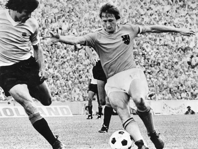 A file photo of Dutch legend Johan Cruyff