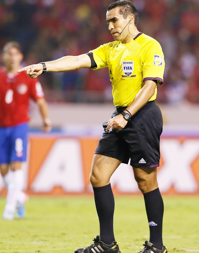 Referee Marco Antonio Rodriguez Moreno of Mexico