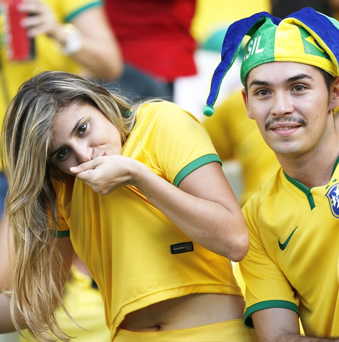 Brazil fans pray for a miracle