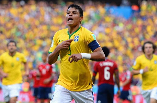 Brazil captain Thiago Silva