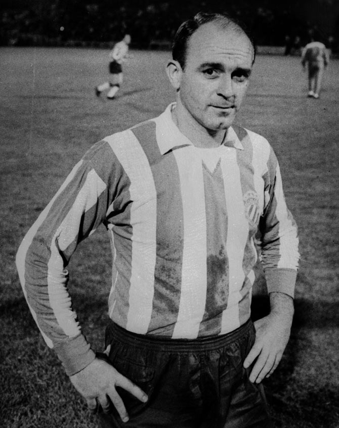 Argentinian born Spanish footballer Alfredo Di Stefano