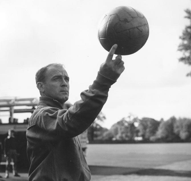 Spanish footballer Alfredo di Stefano