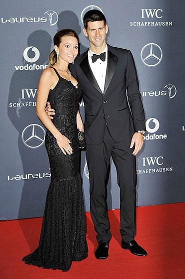 Jelena Ristic with Novak Djokovic