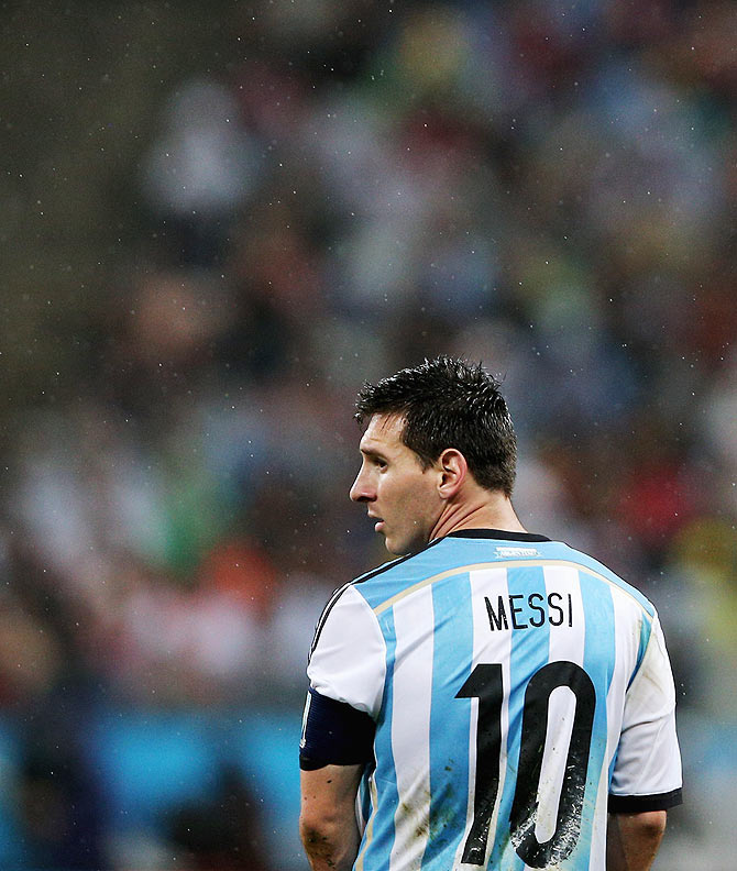 Lionel Messi of Arg