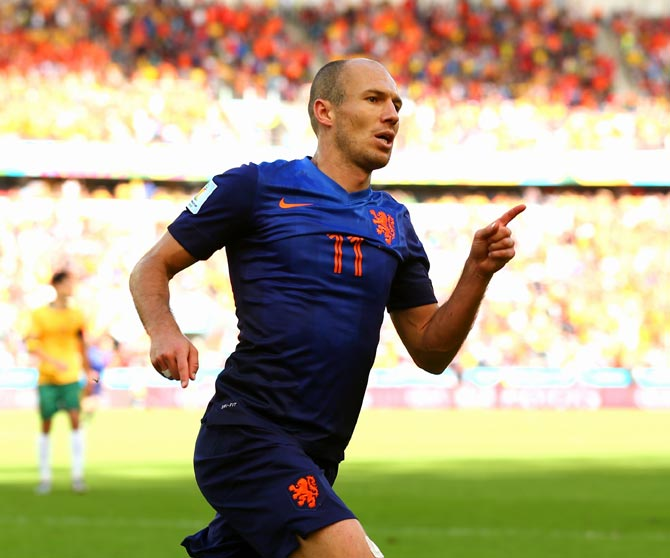 Arjen Robben of the Netherlands
