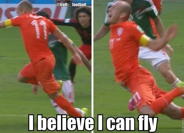 A troll on Arjen Robben on the internet