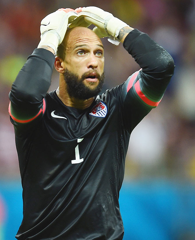 United States goalkeeper Tim Howard