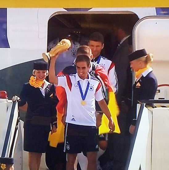 World Champions Germany arrive home to rousing reception