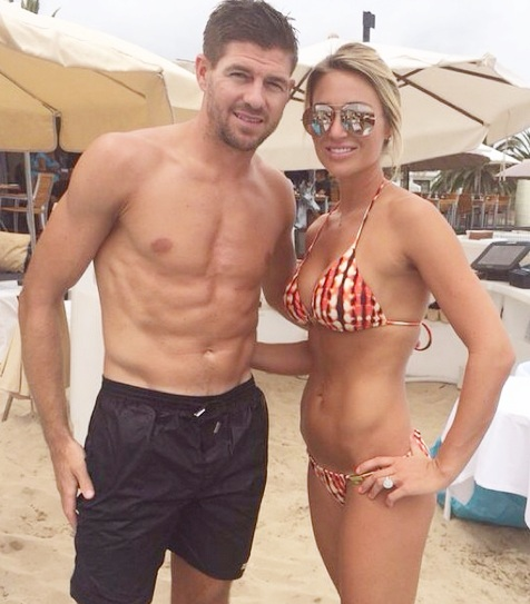 Steven Gerrard with his wife Alex