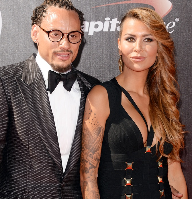 USA soccer player Jermaine Jones with wife Sarah Gerth Jones