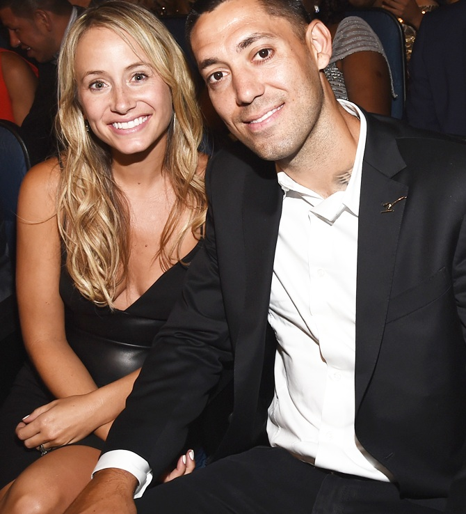 Bethany Dempsey and US soccer player Clint Dempsey