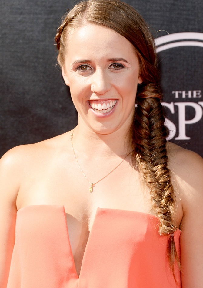Skier Maddie Bowman attends The 2014 ESPYS at Nokia Theatre