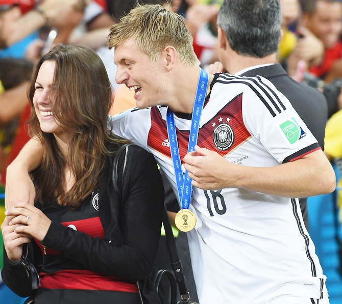 Toni Kroos with girlfriend