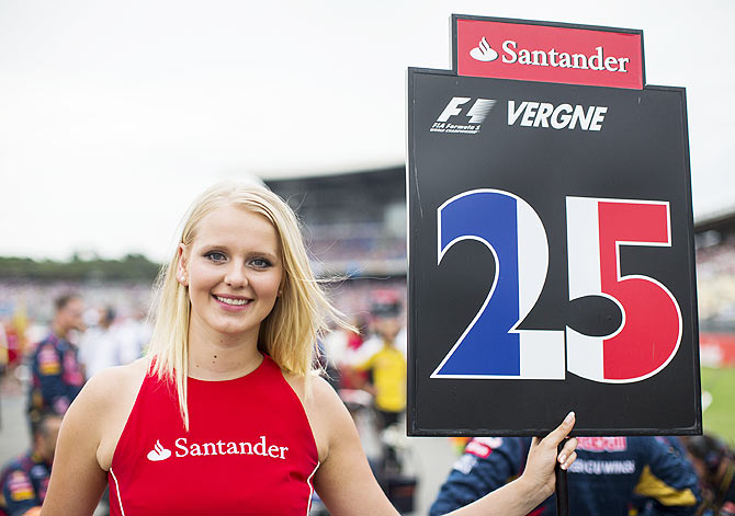 Toro Rosso Grid Girls ahead of the German F1 Grand Prix at Hockenheimring in Hockenheim, Germany on Sunday