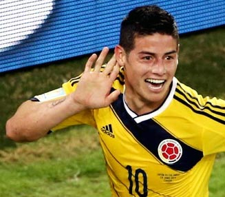 Rediff Sports - Cricket, Indian hockey, Tennis, Football, Chess, Golf - Real Madrid sign Colombia's World Cup hero Rodriguez
