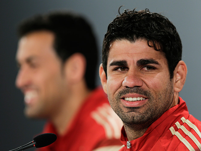 Diego Costa during a news conference