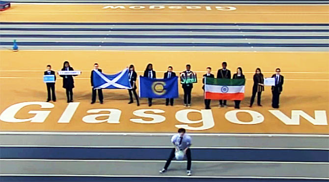 The Commonwealth Games' official song, 'Let the Games Begin' shows India's flag upside down