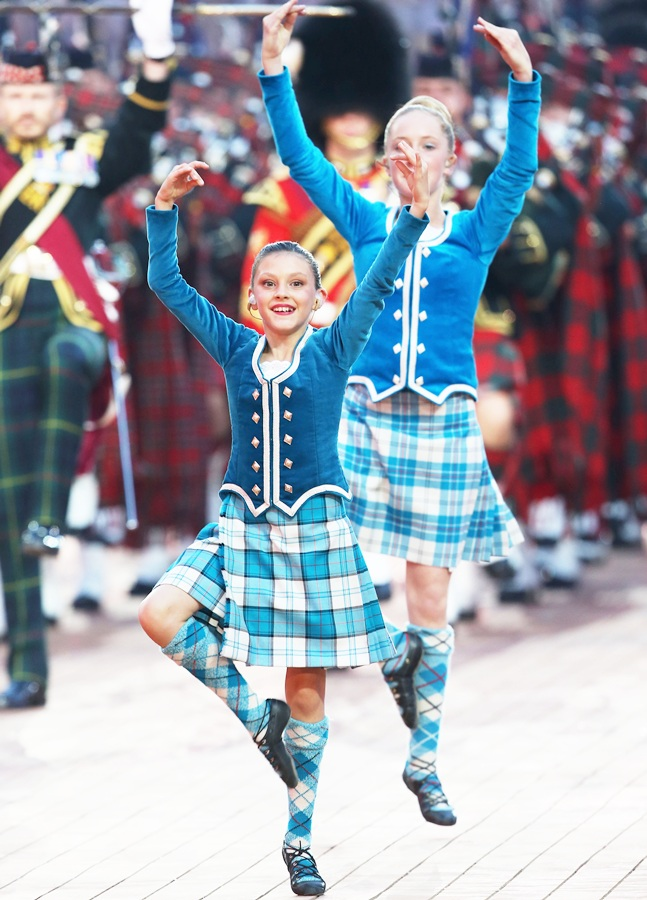 Dancers perform during the Opening Ceremony for the Glasgow