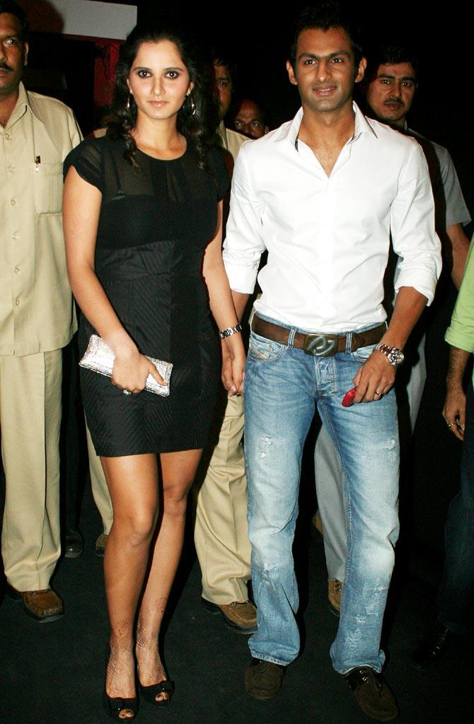 Sania Mirza with her husband, Shoaib Malik