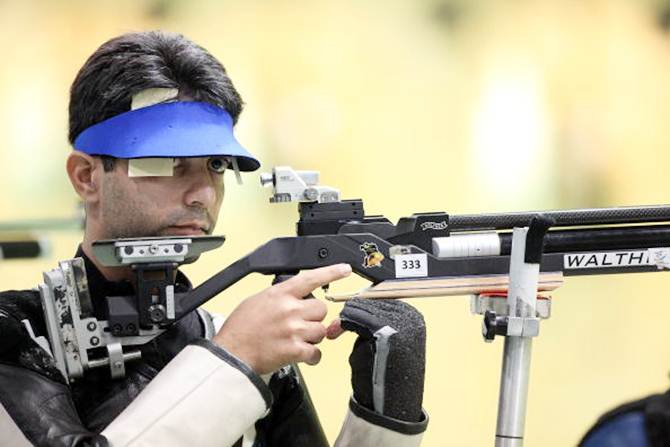 Rediff Sports - Cricket, Indian hockey, Tennis, Football, Chess, Golf - Bindra joins Salman as Rio Games ambassador