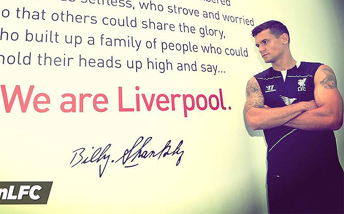 Dejan Lovren after being signed by Liverpool on Sunday