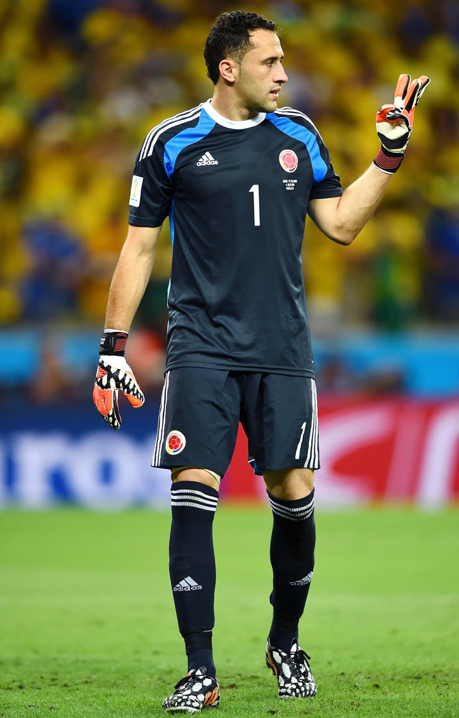Goalkeeper David Ospina of Colombia