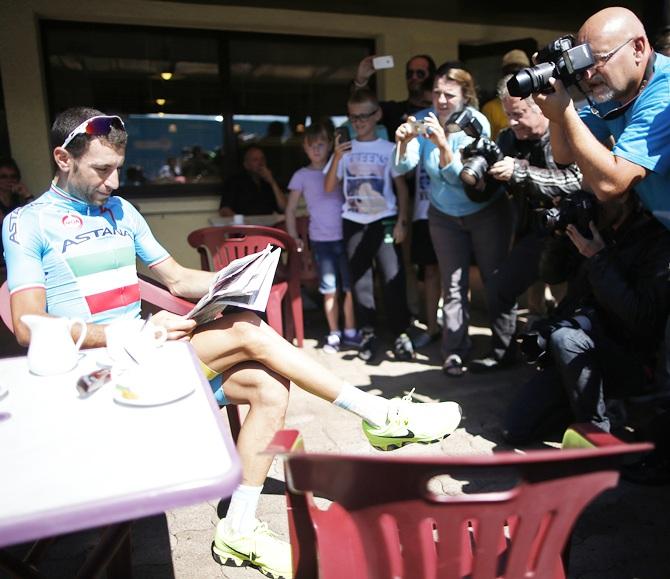 Astana team rider Vincenzo Nibali