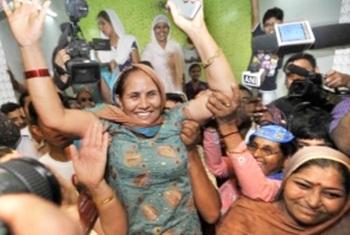 Sushil Kumar's family celebrate
