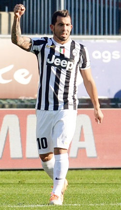 Carlos Tevez of Juventus