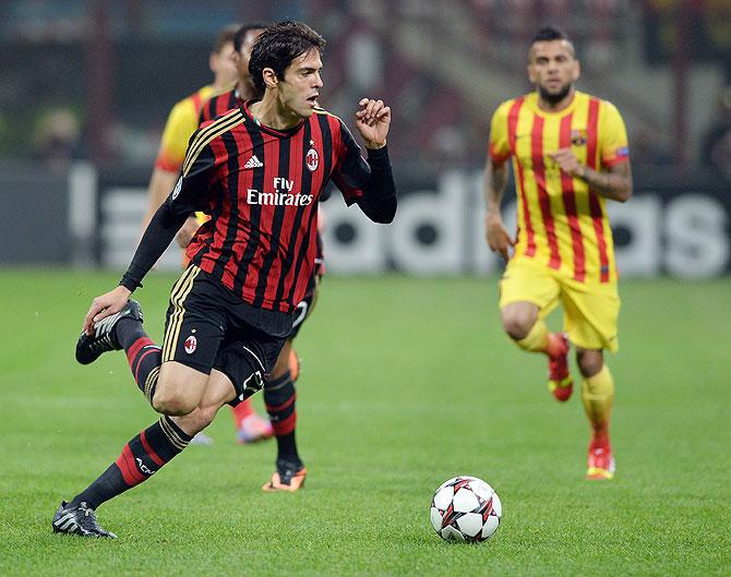 Kaka of AC Milan and Brazil