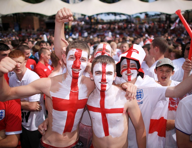 England soccer fans