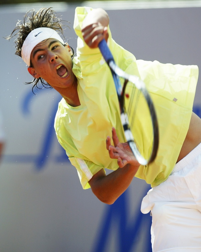 Rafael Nadal of Spain in 2003