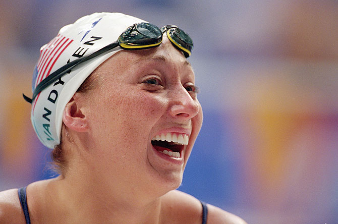 Amy Van Dyken of the United States