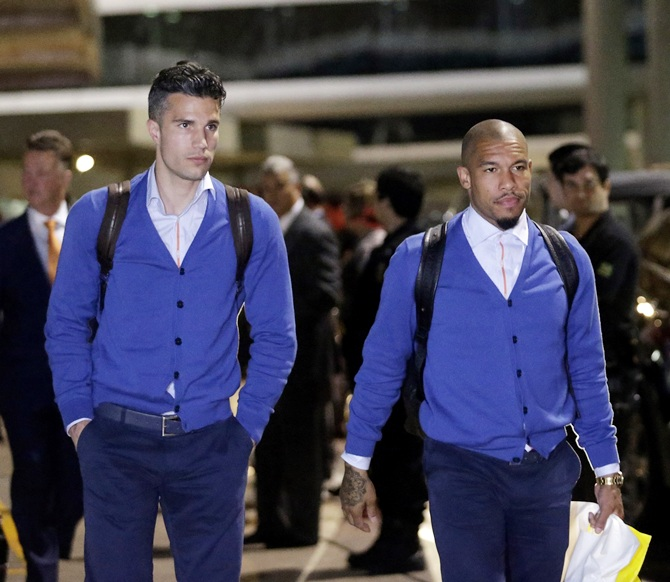 Netherlands national soccer team arrive