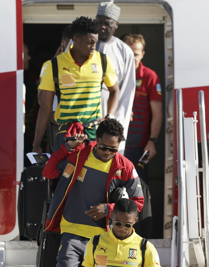 Cameroon's squad arrive