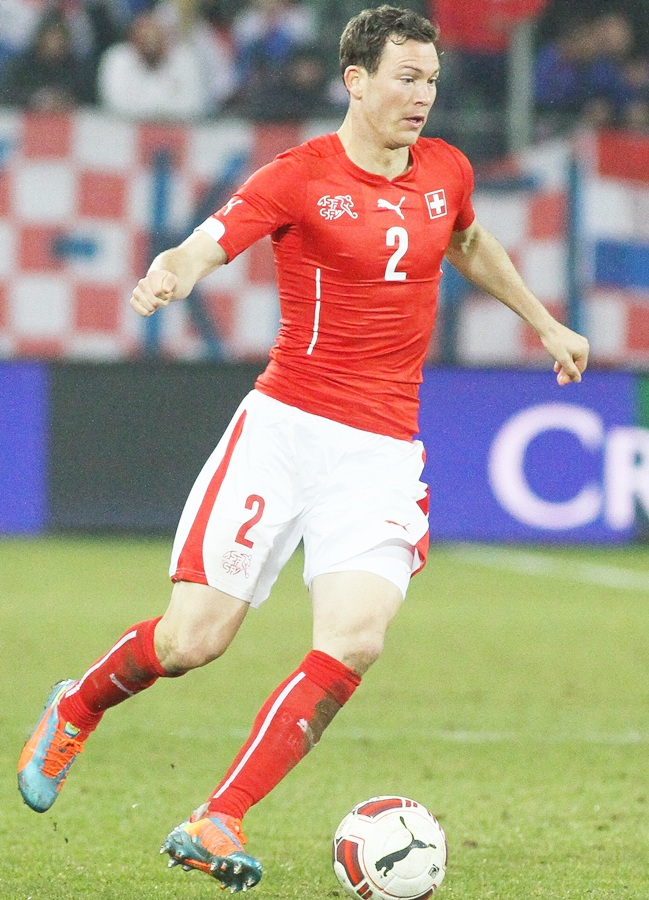Stephan Lichtsteiner of Switzerland in action