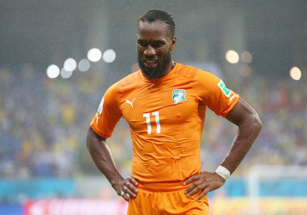 Didier Drogba of the Ivory Coast looks on during the World Cup  Group C match against Japan at Arena Pernambuco.