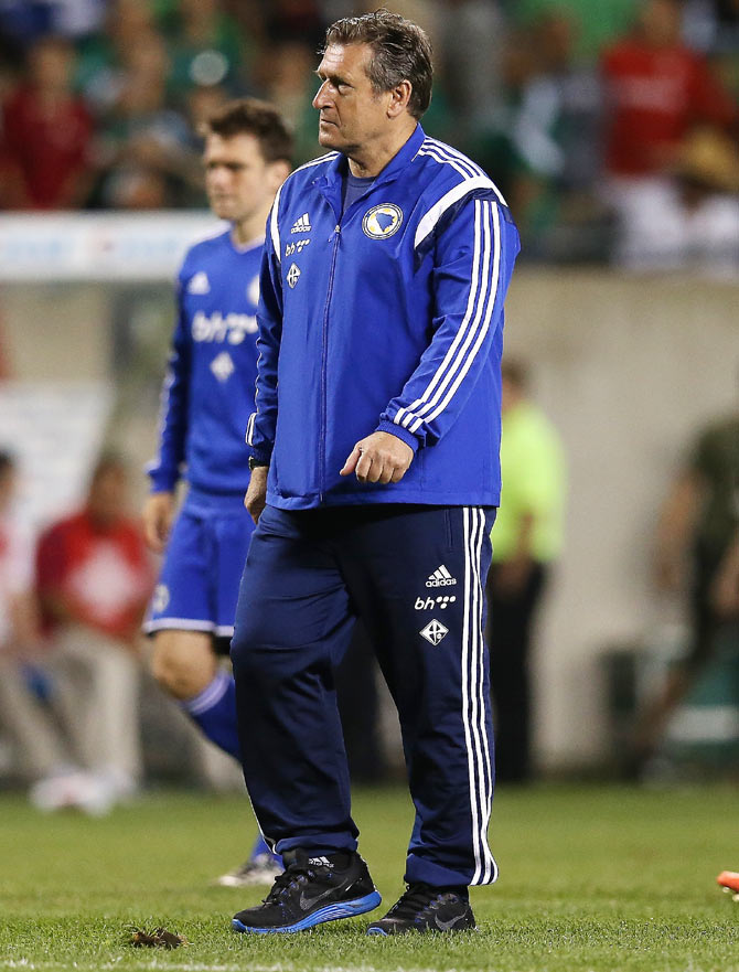 Head coach Safet Susic of Bosnia & Herzegovina