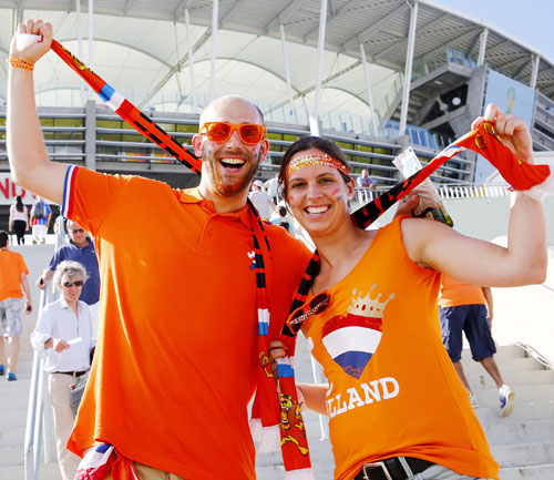 Holland fans in Salvador